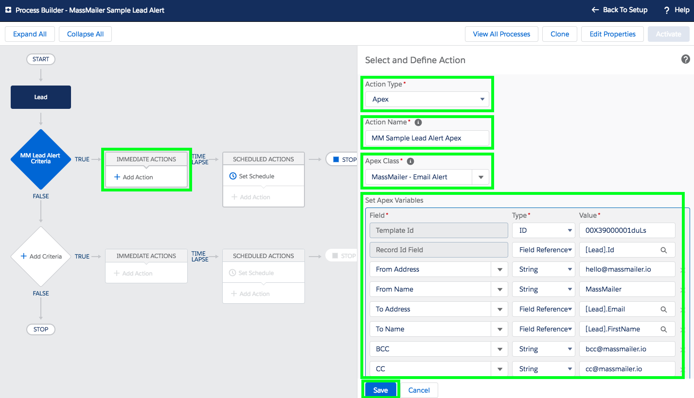 Send and Track Email Alerts in Salesforce Workflow Process through Process Builder