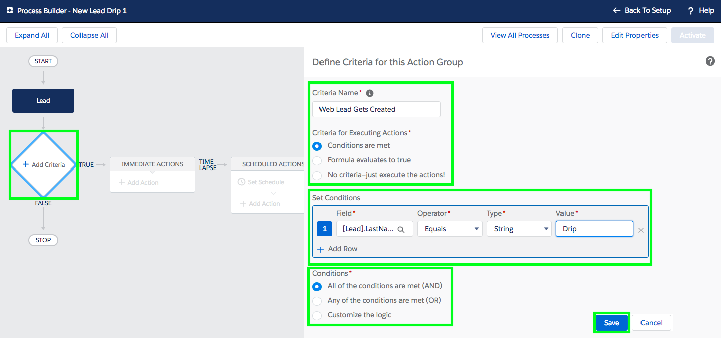 Setup Email Drip Campaign in Salesforce - Step 3