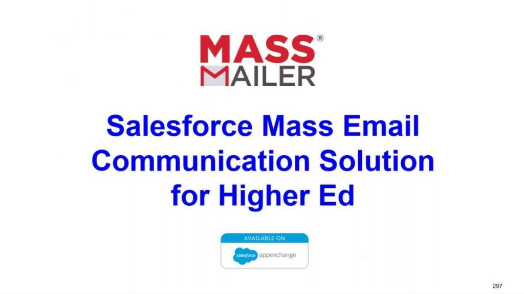 Mass Email Solution for Salesforce CRM - MassMailer