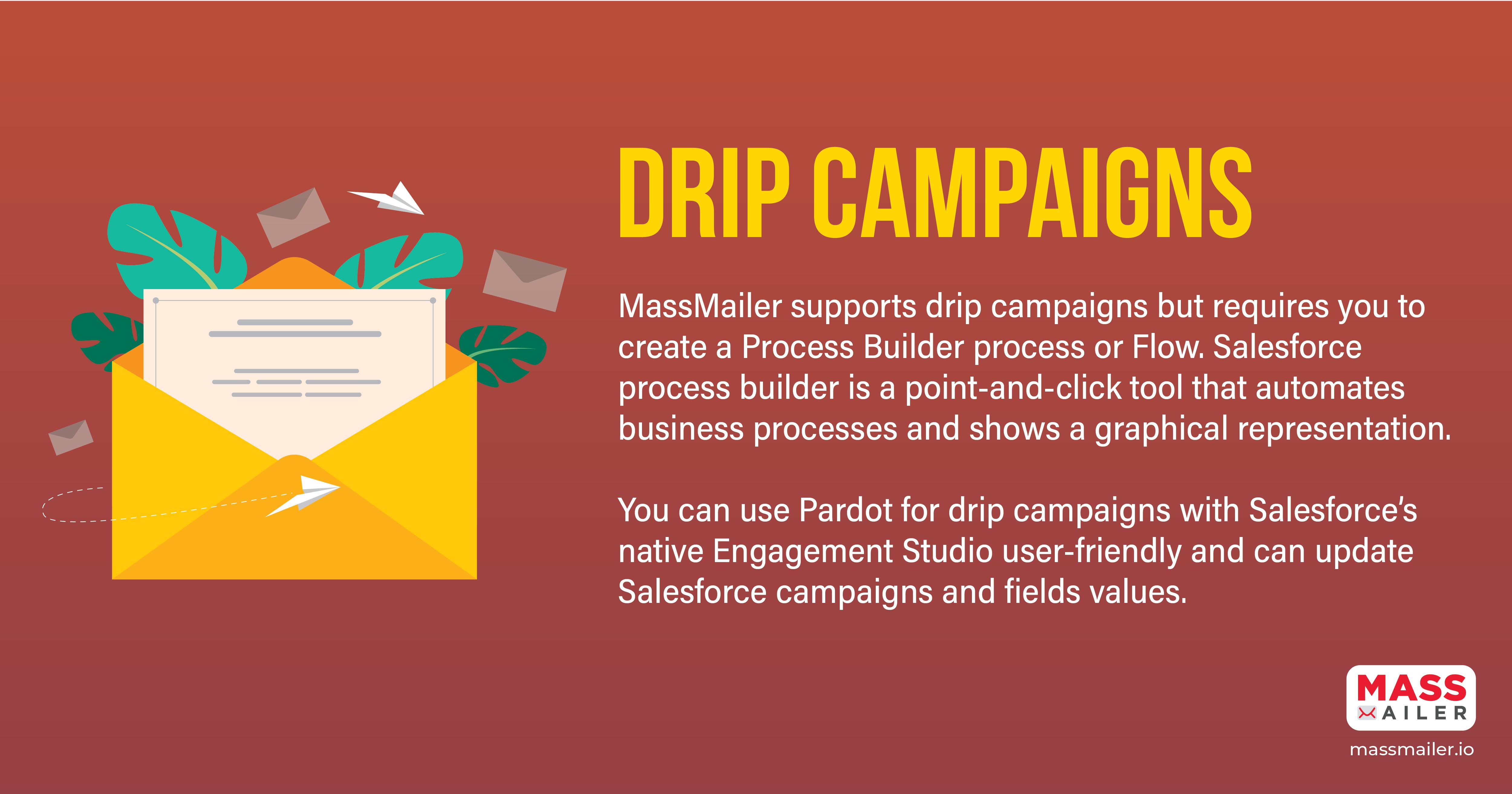 MassMailer vs Pardot - Drip Campaigns